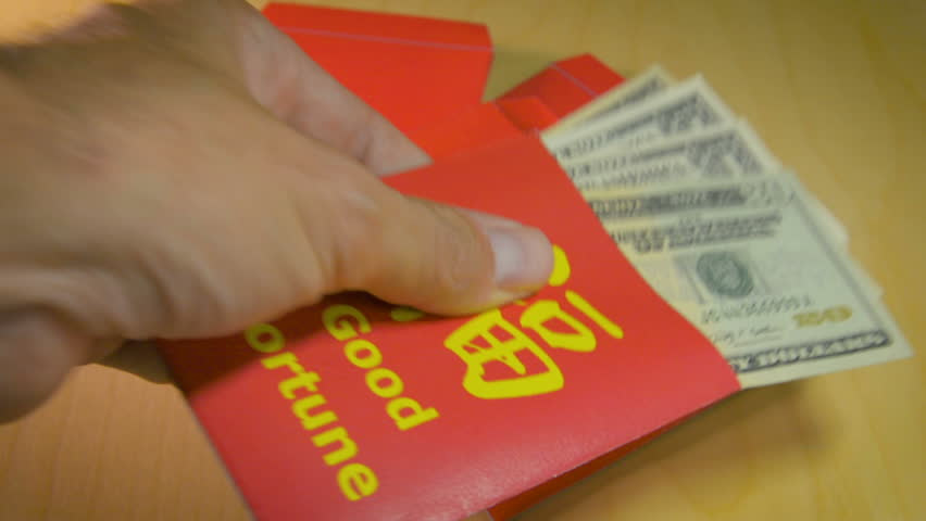The Red Envelope Or Hong Stock Footage Video 100 Royalty