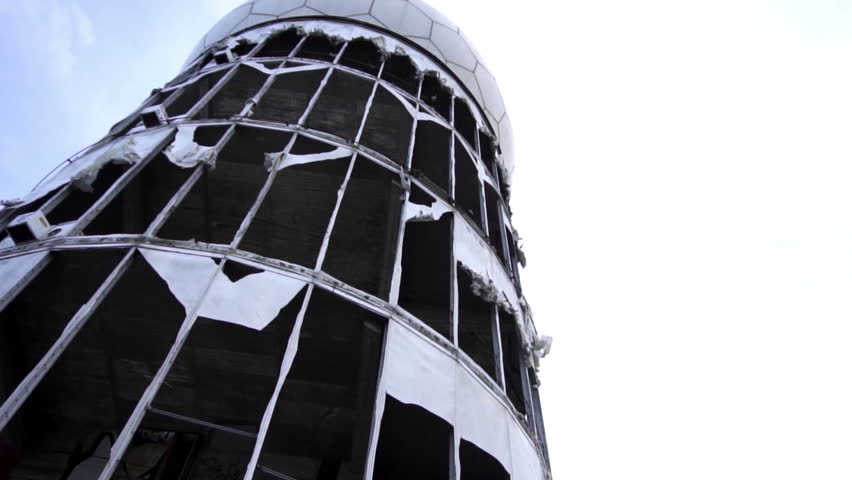 Teufelberg Tower, Berlin - Abandoned Spying Center During Cold War Slow Motion Video Footage