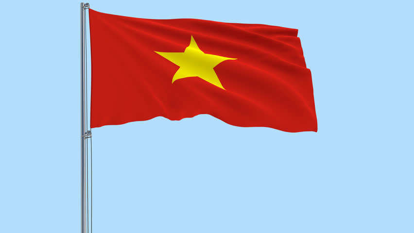 Isolate Flag Of Vietnam On Stock Footage Video 100 Royalty Free 33046351 Shutterstock