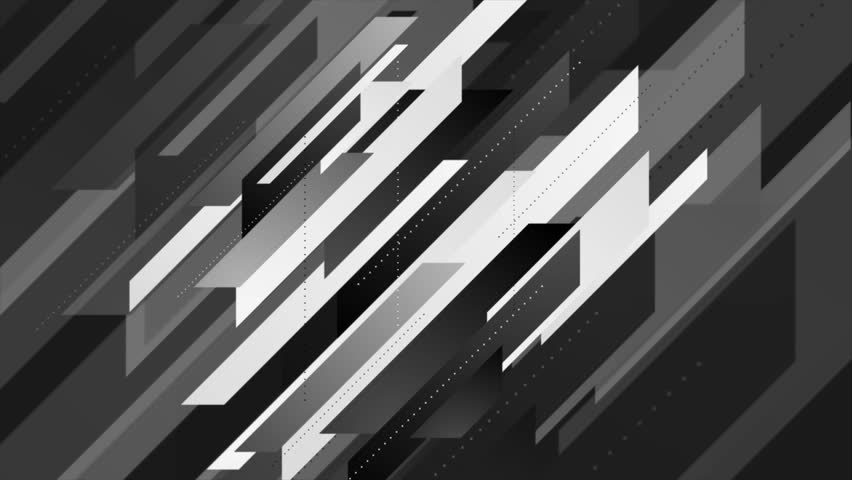 Abstract geometric minimal tech black and white motion design. Seamless looping. Video animation Ultra HD 4K 3840x2160 #33052090