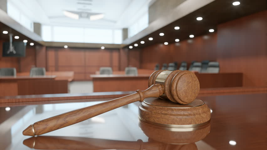 Courtroom And Gavel Royalty-Free Stock Footage #33077128
