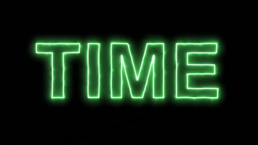 Neon Flickering Green Text Time Stock Footage Video (100% Royalty-free)  33093409 | Shutterstock