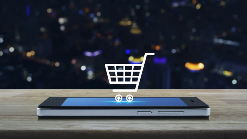 Shopping Cart Icon On Modern Stock Footage Video (100% Royalty-free)  33106063 | Shutterstock