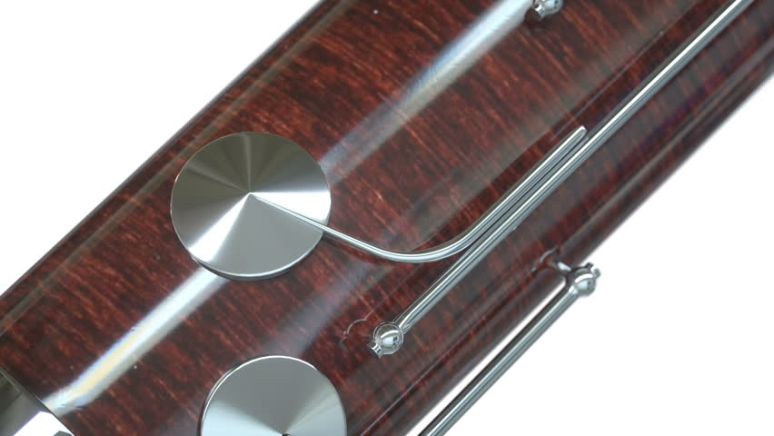 Bassoon close up on white background