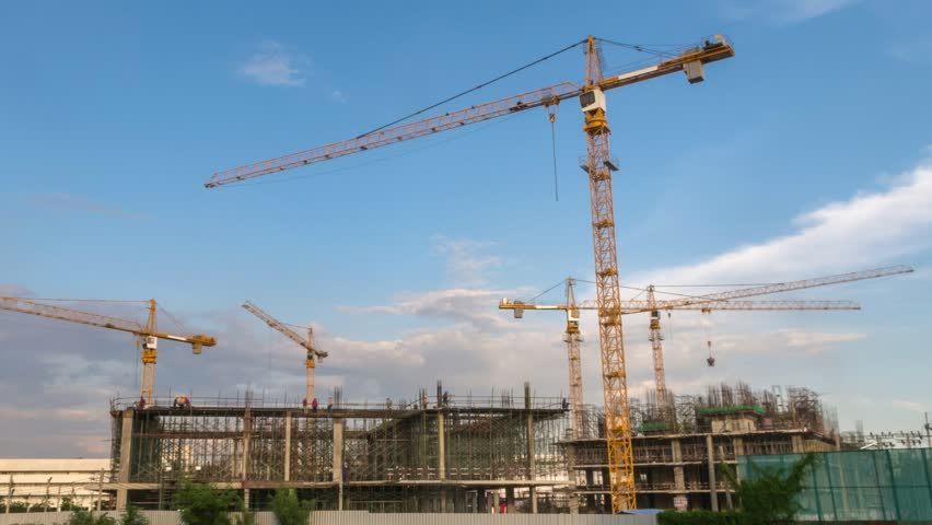 Construction site progress start to finish complete long term timelapse, HD Time lapse | Shutterstock HD Video #33198490