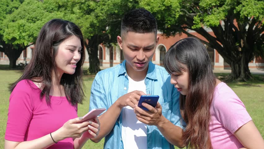 Happy student use phone in the school | Shutterstock HD Video #33200278