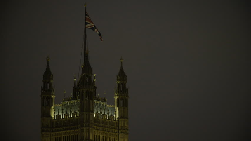 The Top of the Victoria Tower with the Union Flag on   Shutterstock HD Video #33222589