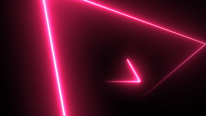 Abstract background with neon triangles. Seamless loop | Shutterstock HD Video #33246667