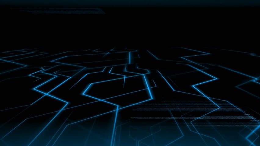 Seamless abstract blue light animation background pattern of electronic circuit current with computer source code moving in background. Internet and telecommunication technology concept.  Royalty-Free Stock Footage #33249355