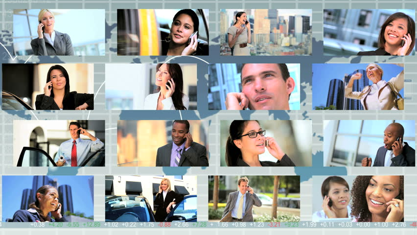Global montage images featuring business people using Smart Phone technology worldwide   Shutterstock HD Video #3326051