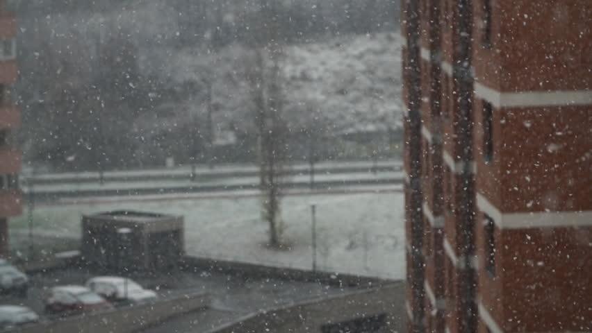 Snowfall in the city. | Shutterstock HD Video #33267445