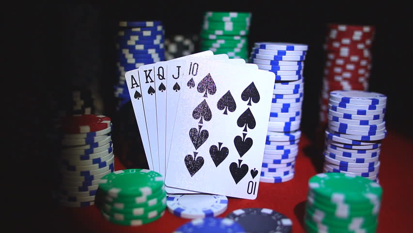 Royal Flush On Cards and Stock Footage Video (100% Royalty-free) 33316900 |  Shutterstock