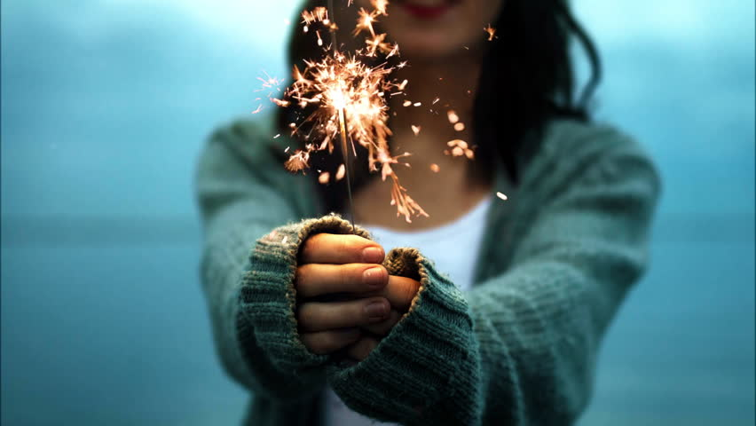 Girl with sparkler cinemagraph 4k | Shutterstock HD Video #33336979