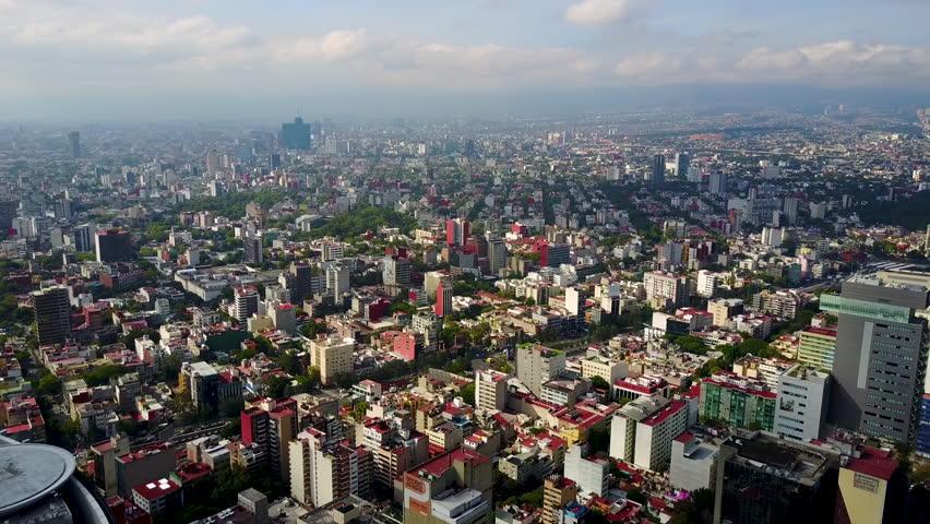 Skyline of mexico city aerial