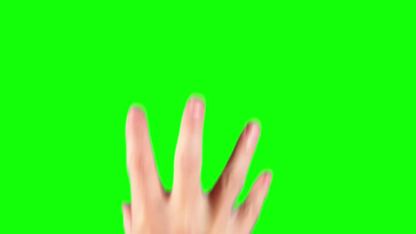 Touching the touch screen gestures - 13 in one file green screen