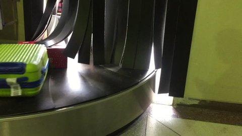 Empty Conveyor Belt at Airport