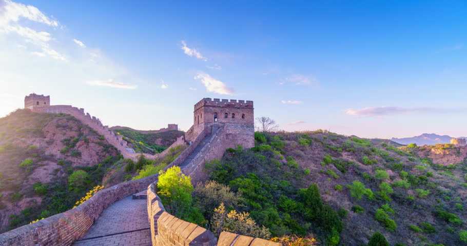 The internal walking of the Great Wall in China   Shutterstock HD Video #33401674