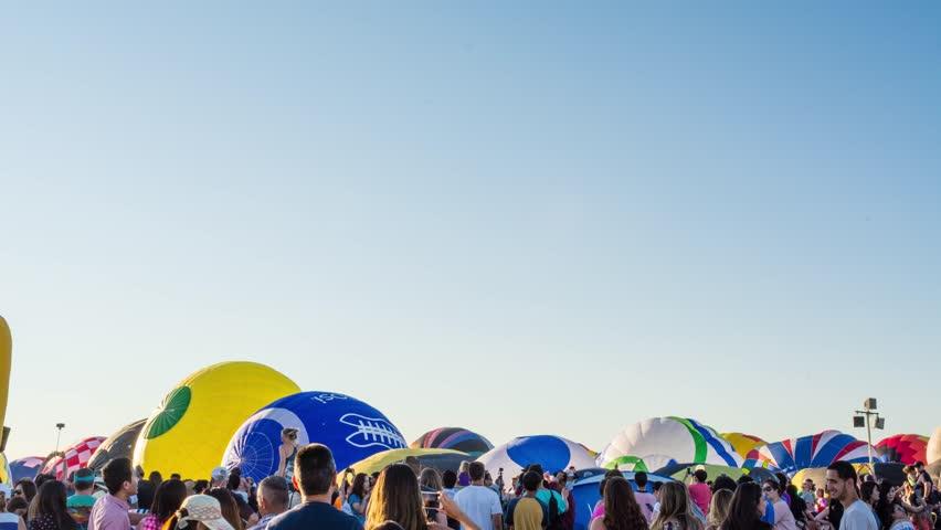 New Jersey Hot Air Balloon Festival Launch Timelapse Video, Bridgewater, NJ, July 2017 #33418225