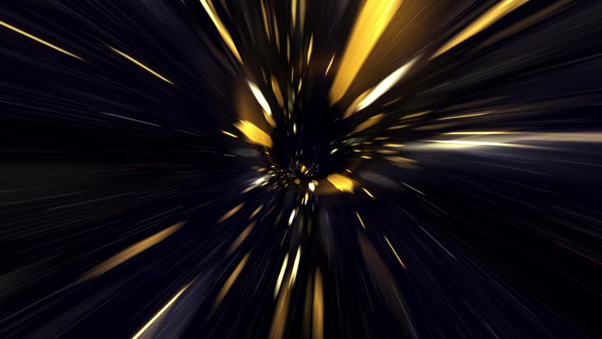 Travel Through a Golden Vortex in Light Speed  | Shutterstock HD Video #33430828