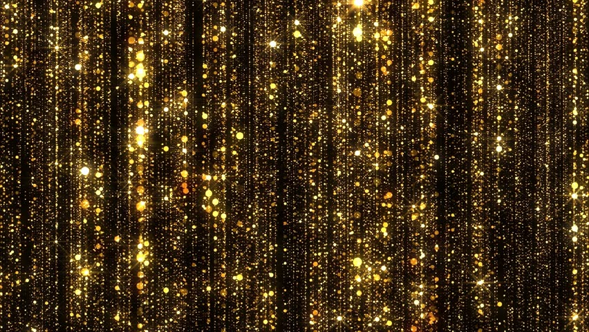 Gold Particles Glitter Glamour Rain 4K Christmas Animation
