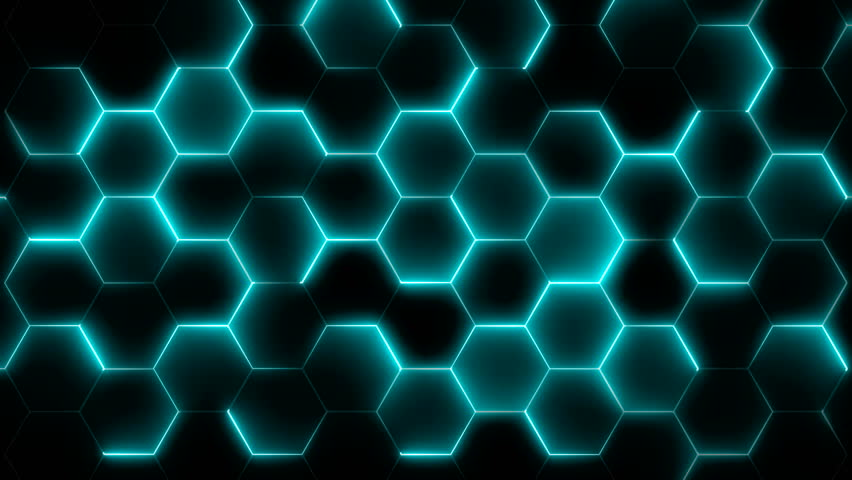 Futuristic abstract hexagonal grid background growth line Geometric Surface Loop light hexagon cell black background broadcast films High-tech 3D animation Hexagon bright clean minimal pattern footage | Shutterstock HD Video #33442240