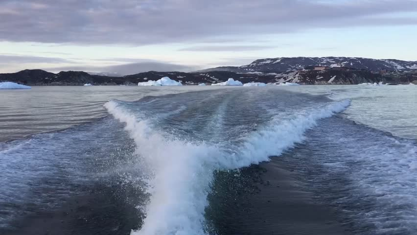 Arctic Ocean with huge glaciers | Shutterstock HD Video #33454537