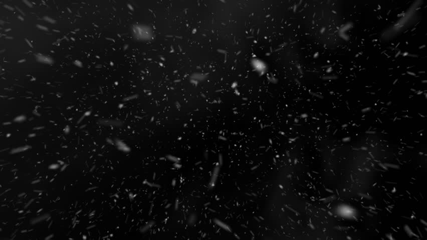 Flying through Blizzard Snow Loop - Medium Shot Pre-render - Realistic snow looped with alpha