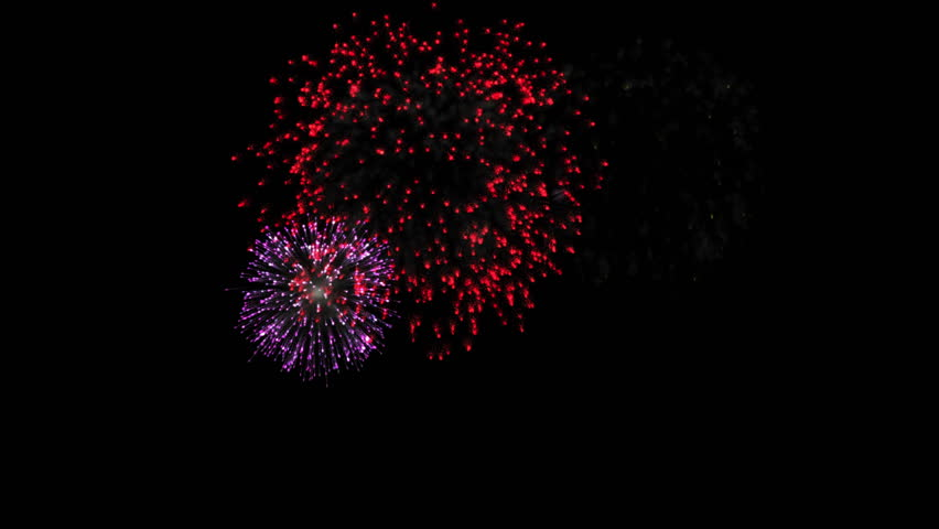 Multicolor fireworks loop 4K animation.  flash red yellow pink purple white and blue fireworks at night background.  Happy New Year holiday different celebration fireworks. | Shutterstock HD Video #33521086