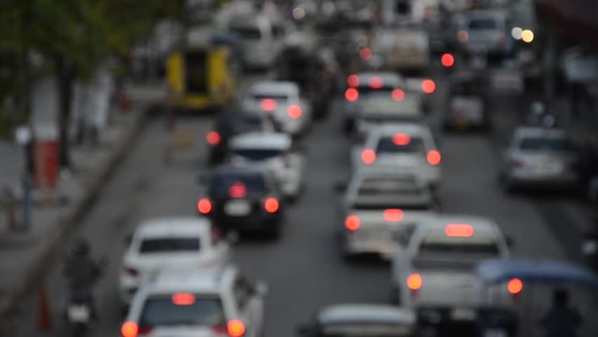 Blur Traffic jam in Northern Thailand. | Shutterstock HD Video #33523348