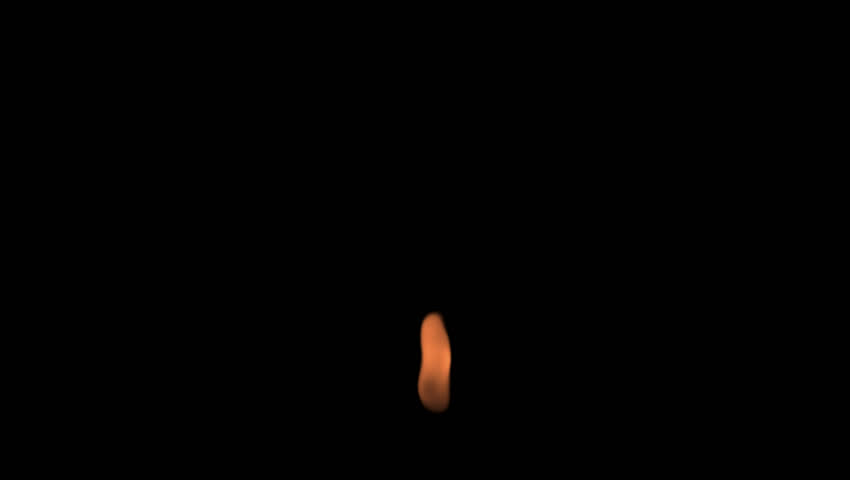 Calm Candle Flame Match Lighting Fire Animation Alpha Channel Transparent 2K