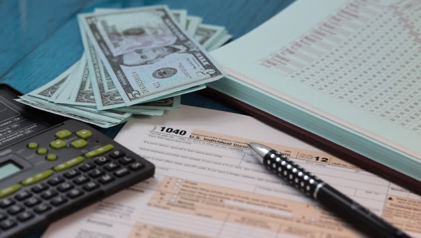 Individual Income Tax Return Concept. Stock Footage Video (100%  Royalty-free) 3357200   Shutterstock
