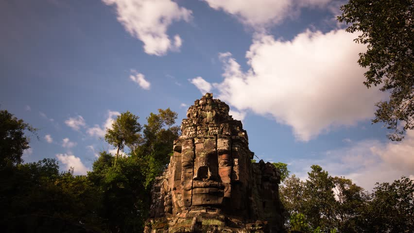 Angkor Thom face of buddha, Cambodia