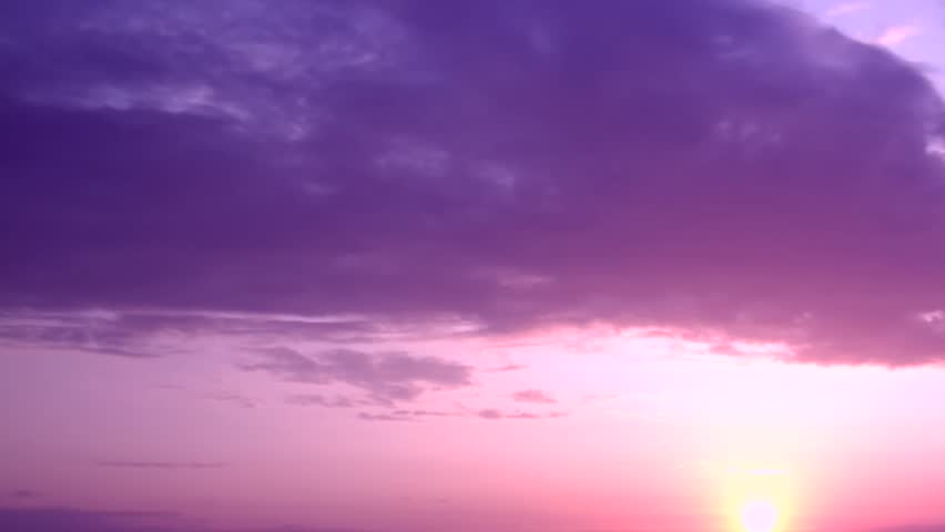 Sunrise time lapse. Aerial pan shot over clouds during beautiful sunrise. Red sun disk time lapse dawn with flowing cloud waves HDR, Beautiful orange sunset, time lapse. Full HD sunrise weather. #33612136