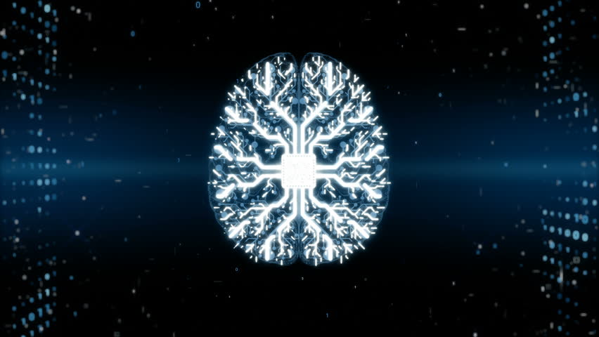 Animation of brain processing information, memory boost. Abstract binary code backround. Neuroscience, process of learning, human or AI brain memory. Artificial intelligence | Shutterstock HD Video #33628033