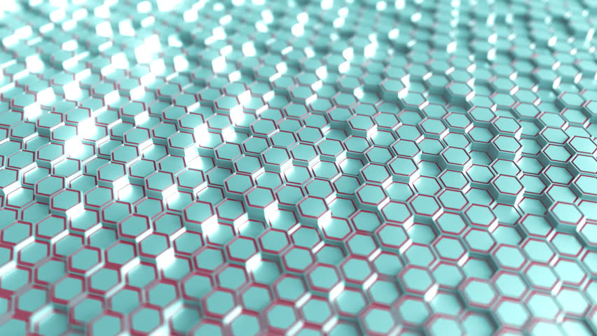 Futuristic blue and red hexagonal prisms motion background, seamless loop   Shutterstock HD Video #33651241