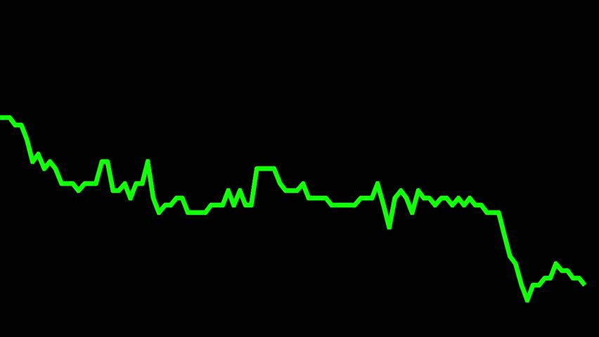 Green line graph on black background chart of stock market investment trading.   Shutterstock HD Video #33700813