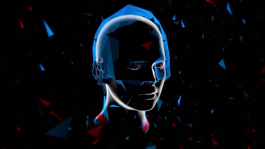 3D Virtual Girl / Low polygon, futuristic motion design.   Shutterstock HD Video #33702475