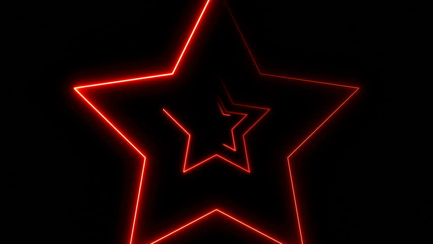 Abstract background with neon stars. Seamless loop | Shutterstock HD Video #33703483