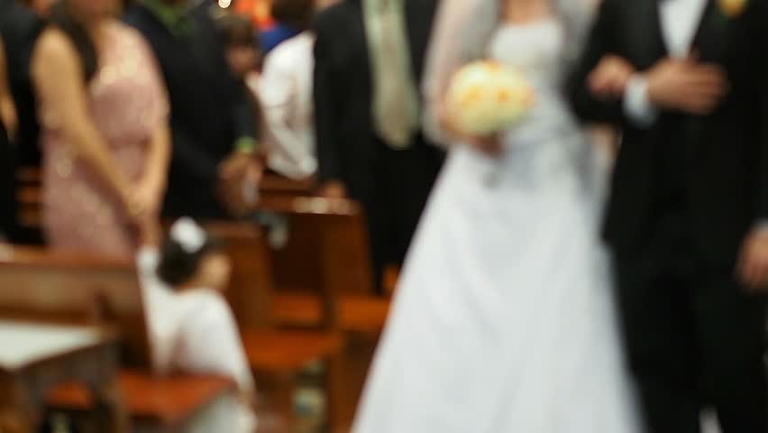 Wedding in a chapel - blurry | Shutterstock HD Video #3370811