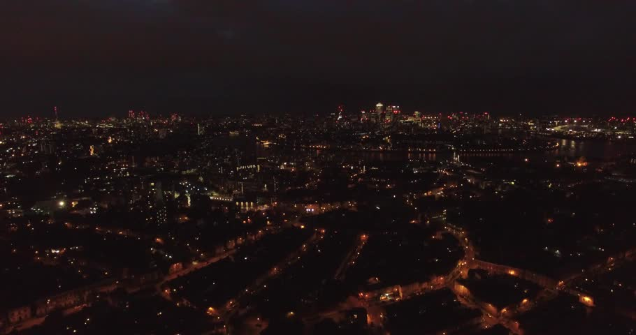 4k Drone shoot over London at night | Shutterstock HD Video #33724144