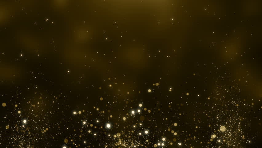 Particles gold glitter awards dust abstract background loop
