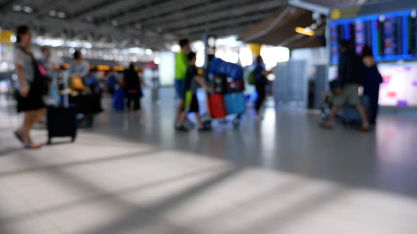 Blurred busy Airport Terminal  | Shutterstock HD Video #33768481