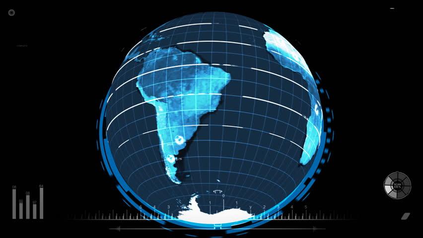 Futuristic Earth Scan   Shutterstock HD Video #3377927