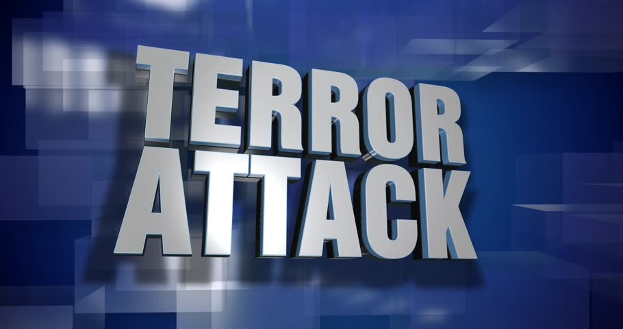 A blue dynamic 3D Terror Attack transition and title page animation. 5 and 2 second options included with optional luma matte for both.	 	 | Shutterstock HD Video #33811045