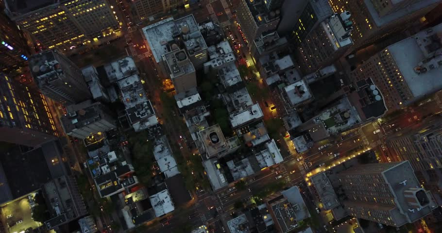 Aerial Footage of Empire State Building and Midtown NYC at Night USA - March 10 2017 | Shutterstock HD Video #33814843
