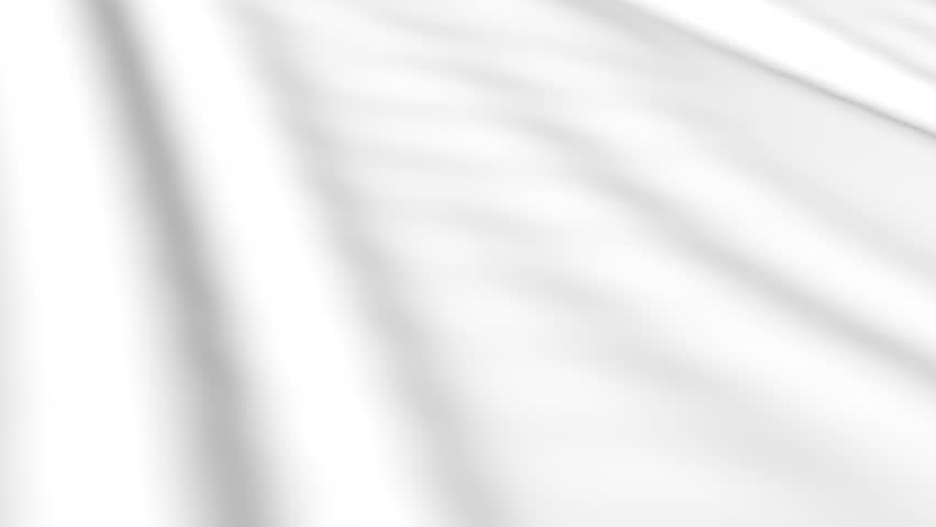 White the cloth flutters. Waves of canvas animation. Background of bright satin fabric.   #33818548