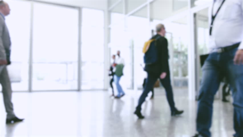 Blurred people rushing at a trade fair | Shutterstock HD Video #33835237