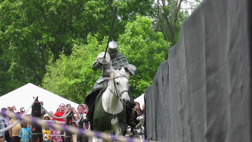 medieval knight joust knocked from hand in competition slow motion 4k