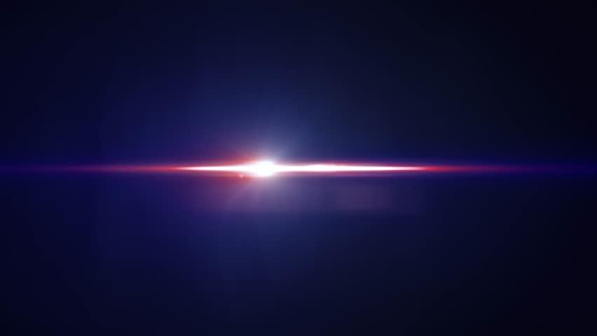 Horizontal Moving Blue Lights Optical