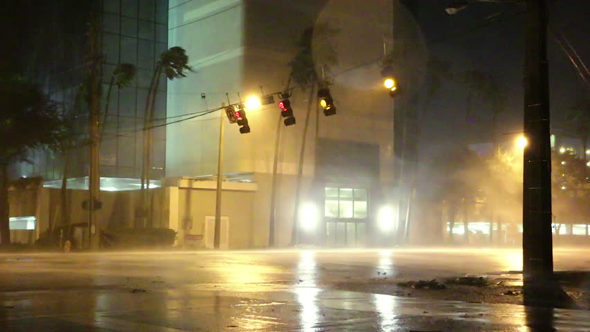 Street Lights Blown by Hurricane Royalty-Free Stock Footage #33874264